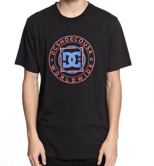 DC SHOE MENS T SHIRT.NEW ENDLESS FRONTIER BLACK COTTON SKATE TOP TEE 8S 757 KVJO